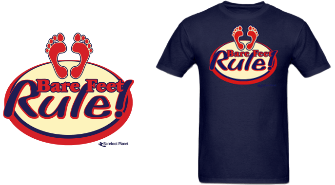 """Bare Feet Rule"" T-shirt"