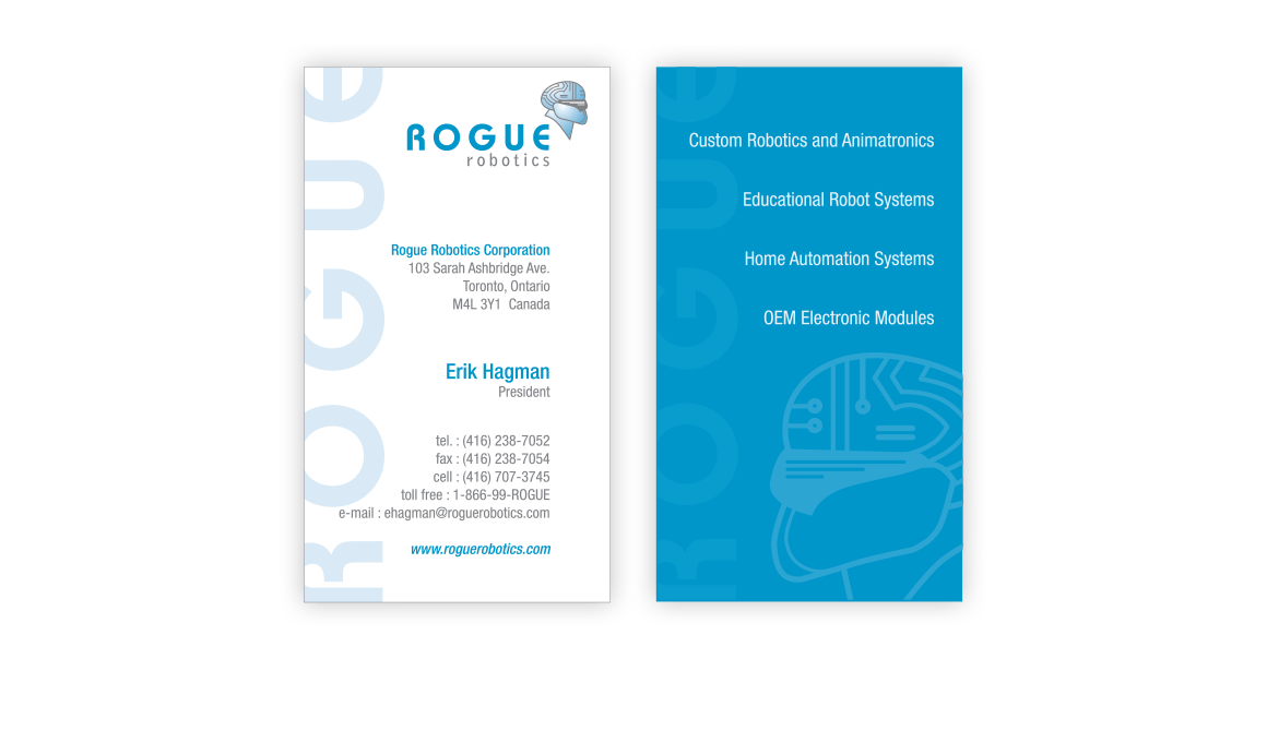 Rogue Robotics Business Card