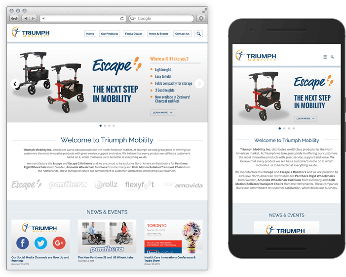 Triumph Mobility Home Page